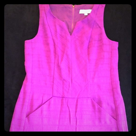 LOFT Dresses & Skirts - Fuchsia below knee length LOFT dress